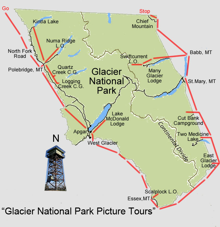 Glacier National Park Picture Tours on map of banff national park, map of glacier park area, yellowstone national park inn accommodations, map of glacier bay park,