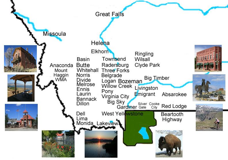 Pony Montana Map.Sw Montana Picture Tours