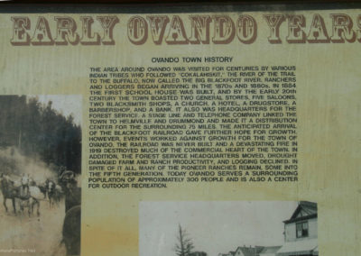 73011 ovando 1496 town history sign_MontanaPictures_Net