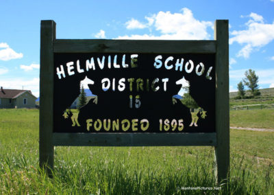 62313 helmville 6970 school sign_MontanaPictures_Net
