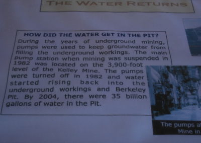 62808 Butte pit sign pump water read 0051 single128