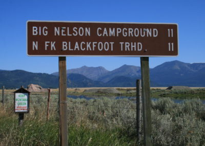 82011 danaher 2175 north fork gravel sign _MontanaPictures_Net