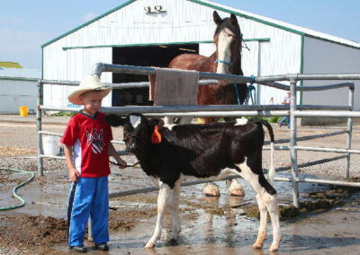 81706 kalispell boy with calf horse_MontanaPictures_Net