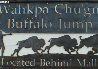 102404 havre buffalo jump metal sign_MontanaPictures_Net_USE