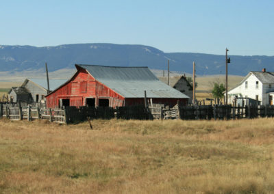 91708 buffalo red barn 5067_MontanaPictures_Net