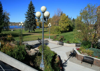 100907 gf park depot streetlight flowers 4784_MontanaPictures_Net
