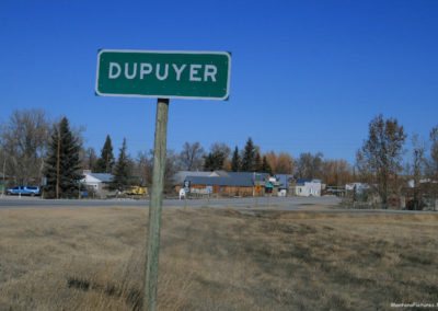 30709 dupuyer 4433 green sign_MontanaPictures_Net