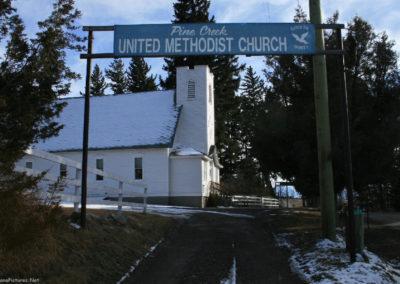 30709 emigrant 0110 pine creek church sign_MontanaPictures_Net