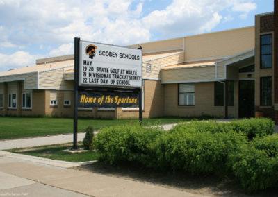 61209 scobey 2375 school sign_MontanaPictures_Net