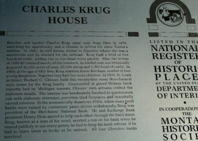 62607 glendive krug house 1399 sign_MontanaPictures_Net