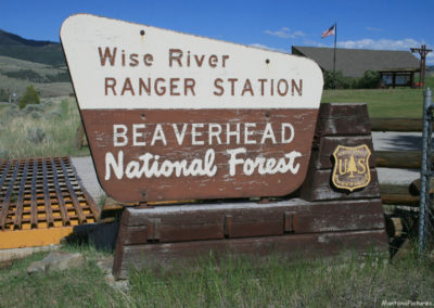 62512 wise river ranger 7722 sign_MontanaPictures_Net