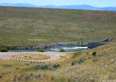 71907 dell clark canyon dam spillway far 9455_MontanaPictures_Net