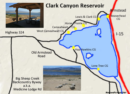 Clark Canyon Reservoir Picture Tour - MontanaPictures Net